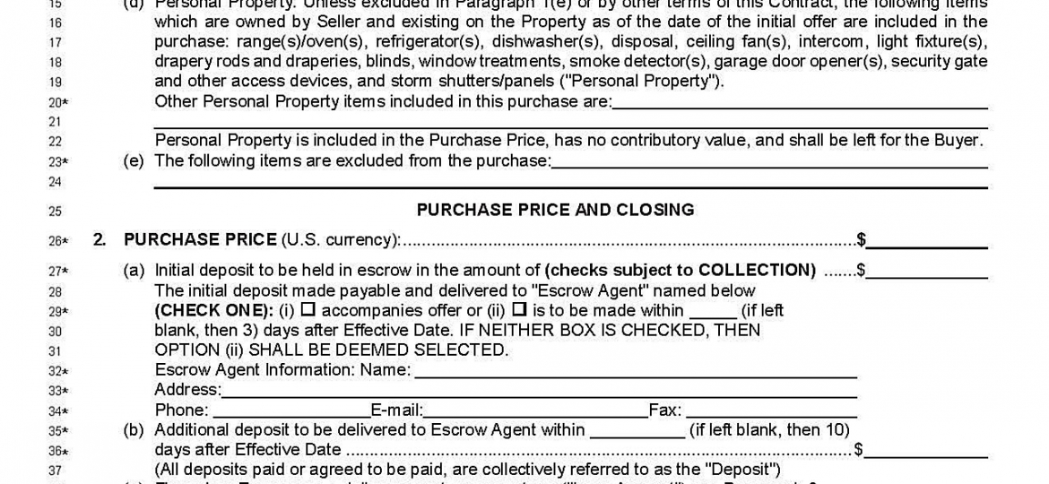 new far bar florida real estate contract 2017 Archives - The ...